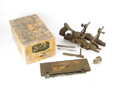 Stanley No. 45 Combination Plow & Beading Plane In Box - Needs Some Love