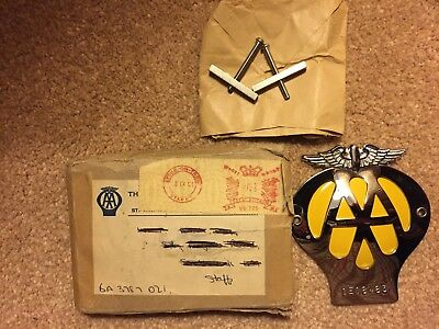 New Vintage A A Badge  Never Used With Box 1E18483