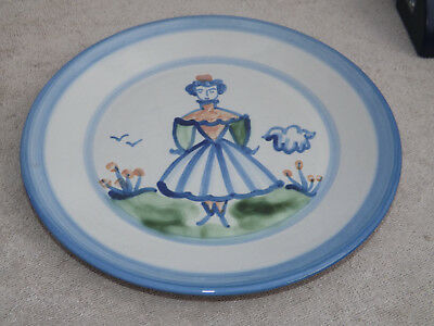 MA Hadley Pottery Hand Painted Girl Dinner Plate