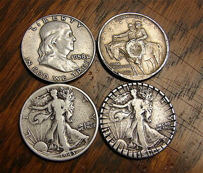 Junk Silver Half Dollars---90% Silver-----$2.00 Face Value