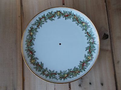 "Fitz and Floyd ""St. Nicholas"" Bottom Plate Only, goes to the 2 Tier Serving Tray"