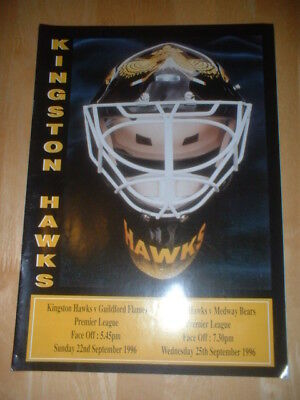 1996.7 Kingston Hawks Hull V Guildford Flames & Medway Bears Ice Hockey