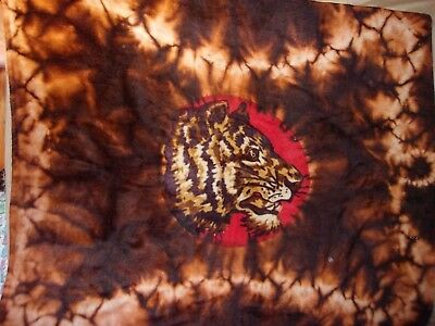Antique Buggy Sleigh Lap Blanket Tiger Glass Eye Chase Label Wall Art