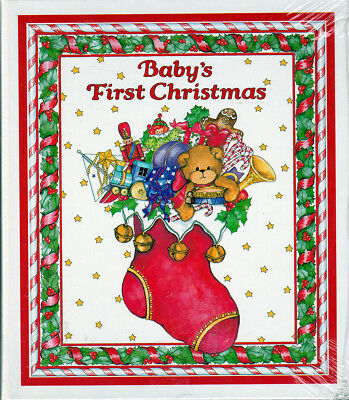 "Vintage Lucy Rigg BABY's FIRST CHRISTMAS 2"" Photo Album Sealed Holds 100"
