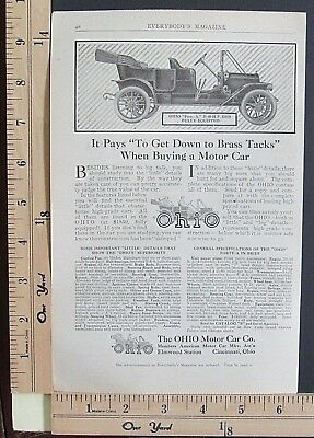 1910 THE OHIO MOTOR CAR CO Forty-A automobile vehicle Vintage Print Ad 9385