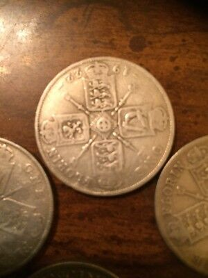 1 UK Silver 50% Silver Coin Florin/2 Shillings
