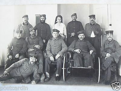 Rppc Military Soldier Wounded Warriors Ww1 Real Hirrlinger Photo Unused Postcard