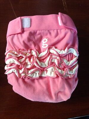 girly girl ruffle nwot gdiaper and liner medium