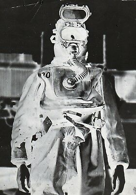 Original Photograph and Negative of a US Navy Diver--1940s (?)