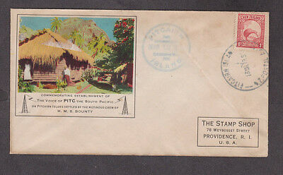 Pitcairn Island - 1938 Forerunner cacheted cover with New Zealand stamp