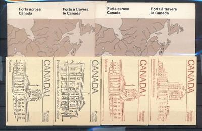 [G118839] Canada Good lot of 6 complete booklets Very Fine MNH
