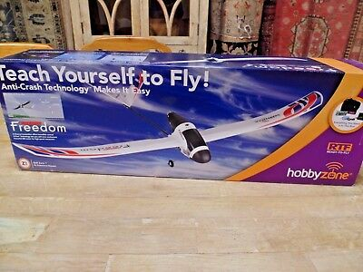 New In Box ! Firebird Freedom Rc Airplane Ready To Fly ! Anti Crash Tech Skill 1