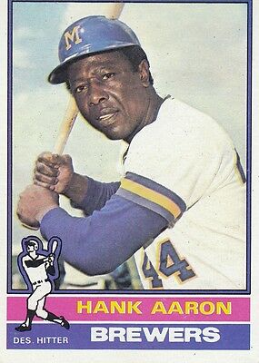 Topps 1976 #550 Hank Aaron-Hall Of Famer-Milwaukee Brewers