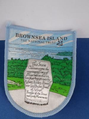 Girl Guides International Brown Sea Island National Trust  Patch Collector Badge