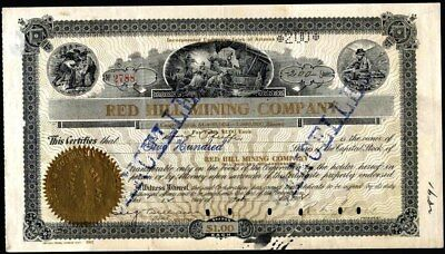 Red Hill Mining Co, 1908, Property In Goldfield, Nevada Stock Certificate