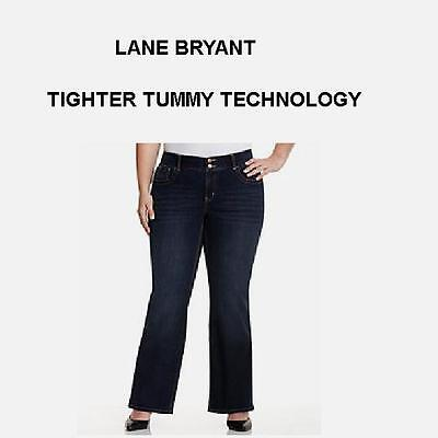 Lane Bryant jeans tighter tummy tuck technology stretch bootcut 14 petite $69