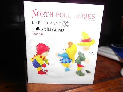 DEPT 56 NORTH POLE VILLAGE Accessory GOTTA GETTA GUND NIB