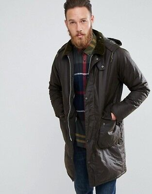 NWT Men's Barbour Heritage Bramble Olive Green Wax Field Jacket Medium $450