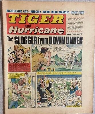 TIGER  and HURRICANE weekly British comic book April 6, 1968