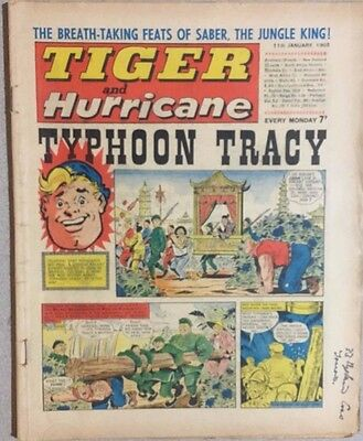 TIGER  and HURRICANE weekly British comic book January 11, 1969