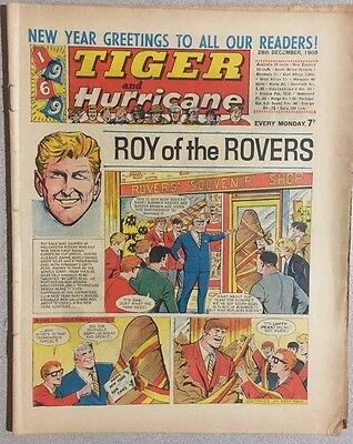 TIGER  and HURRICANE weekly British comic book December 28, 1968