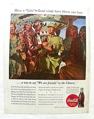 """1943,nov.13 Saturday Evening Post """"that A Coke=Good Winds"""" Servicemen In China"""