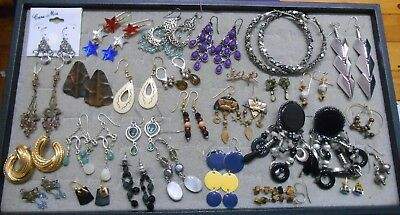 Mixed Lot Of 28 Pairs Of Earrings,some Vintage,most Dangle