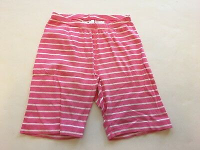 Hanna Andersson Size 130 Pink Striped 100% Cotton Bike Shorts Bikers SS14