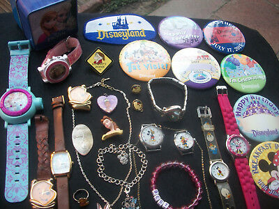 Lot Of Vintage/now Costume Jewelry All Disney Pieces
