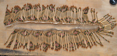 Antique Lampshade Beaded Fringe Trim 47 Inches by 5 1/2 Inches