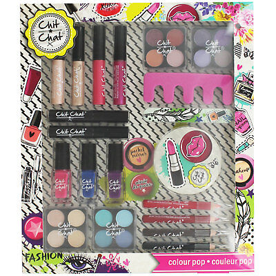 Chit Chat Colour Pop Make Up Nail Set Collection Kids Learn Make up Playset