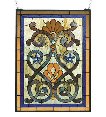 Mandolin Stained Glass Window 20 inches Wide X 27 inches Tall