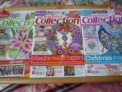 3 xCross Stitch Collection issues..228.229.230..edwardian xmas .Rose angel
