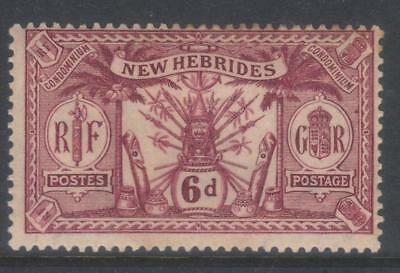 New Hebrides 1921 Msca Sg39 Mh Cat £14