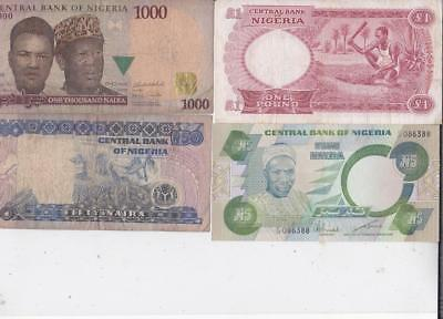 12 Different Nigeria Banknotes   Z16