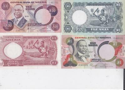 8 DIFFERENT NIGERIA BANKNOTES, a.UNC   Z17