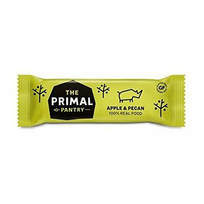 The Primal Pantry Apple and Pecan Raw Paleo Bars, Pack of 18