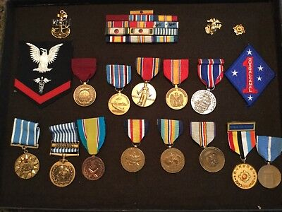 *NR* Estate Lot 19 World War II Korea & Other Medals, Patches, etc WW2 US Navy