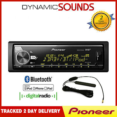 Pioneer MVH-X580DAB DAB Radio, MP3 USB AUX Bluetooth Stereo, Plays iPod iPhone