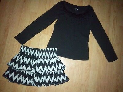 Justice 2 Piece Girls Outfit Size 12