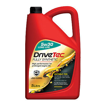 Drivetec 5W30 Engine Oil 5L 5 Litre Fully Synthetic LongLife A3/B4 SL/CF