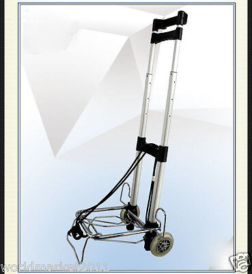 New Convenient Silver Handiness Two Wheels Collapsible Shopping Luggage Trolleys