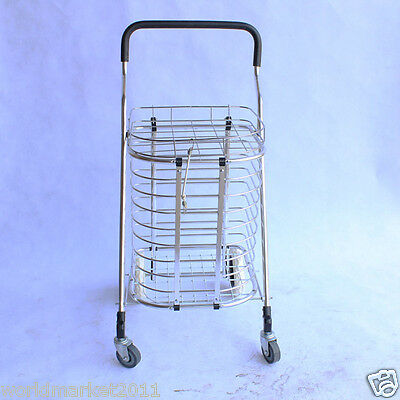 Convenient Aluminum Alloy Basket Four Wheels Shopping Luggage Trolleys & Fitting
