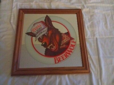 Coors Light. Beer Wolf Mirror Sign