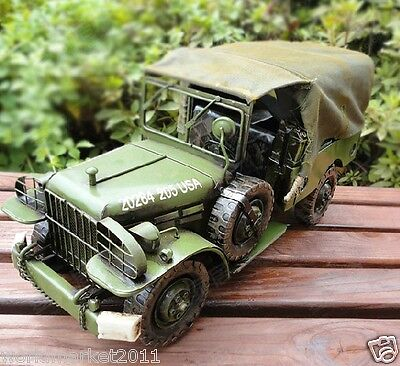 Retro L39*W18*H19.5CM Iron Willis Jeep Car Model/Creative Furnishing Articles
