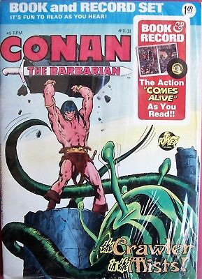 Conan The Barbarian Crawler In The Mists Book & Record Set 45 Rpm Marvel 1976