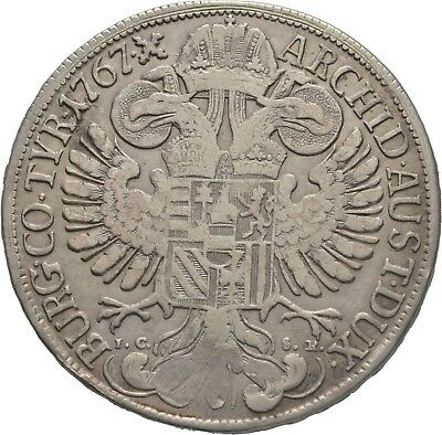LANZ RDR Österreich Maria Theresia Taler 1767 IC SK Wien Doppeladler €HED269