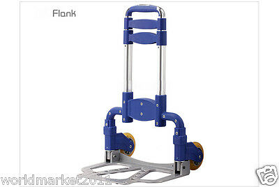 New Convenient Durable Blue Two Wheels Collapsible Shopping Luggage Trolleys