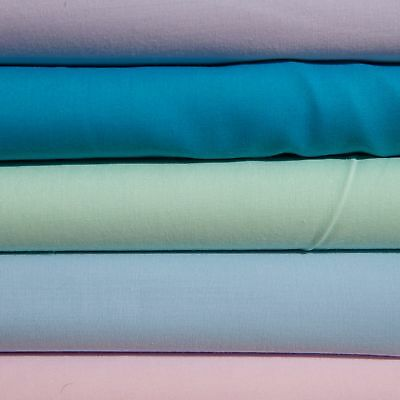 Plain Poly Cotton sheeting material great quality fabric per metre NEW 120gsm