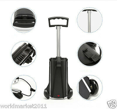 New Convenient Practical Black Two Wheels Collapsible Shopping Luggage Trolleys
